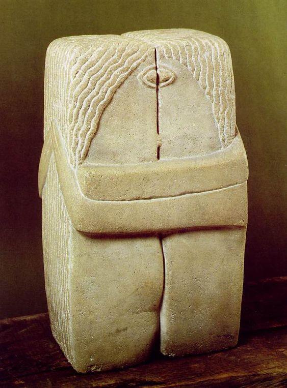 Constantin Brancusi | Constantin Brancusi - The Kiss - 1916 - Limestone 23 x 13 1/4 x 10 ...