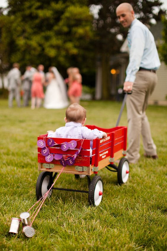 Cutest Ring Bearer in a Wagon ever! | Gosling Photography