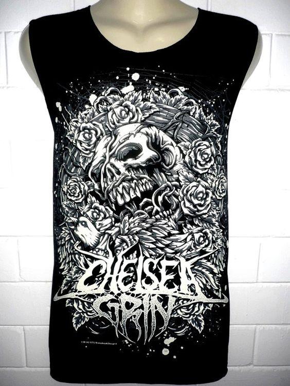 chelsea grin rock band music metal t shirt tank par bestrockshirts emo scene clothes. Black Bedroom Furniture Sets. Home Design Ideas