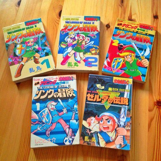 Old japanese Zelda mangas, retrieved by Florent Gorges