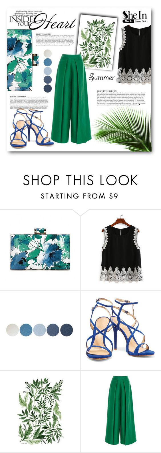"""""""Lace Top"""" by lialondon ❤ liked on Polyvore featuring Anja, NYX, Schutz and Solace"""