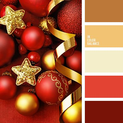 color palette - red & gold Christmas