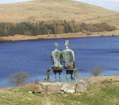 Henry Moore, 'King and Queen' at Glenkiln sculpture trail