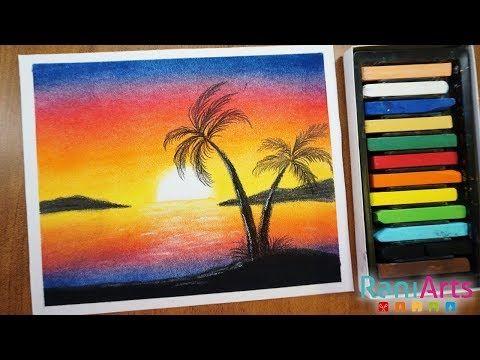 Como Dibujar Atardecer Con Tizas Pastel Nivel Principiantes Youtube Dibujo Atardecer Tiza Pastel Atardeceres Dibujos