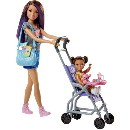 19++ Barbie skippers babysitter stroller playset with doll information