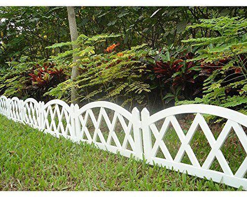 Amazon Com Worth Garden Plastic Fence Pickets Indoor Outdoor