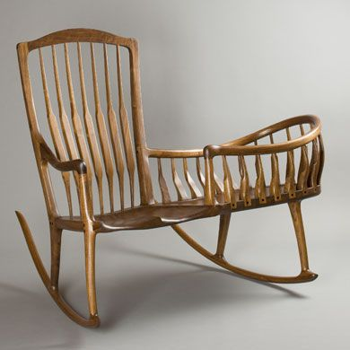 Nanny Rockers Not Just In Wicker Anymore -- Master craftsman Scott Morrison describes his awesome Rocker Cradle ...