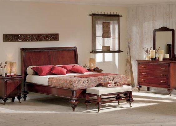 Prachtig kersenhouten slaapkamer
