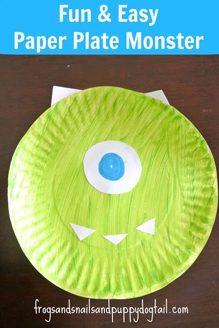 monsters inc craft ideas paper plate monsters craft simple projects monsters 4988