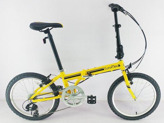 Euromini Zizzo Campo 20 Folding Bike Matte Yellow Sepeda