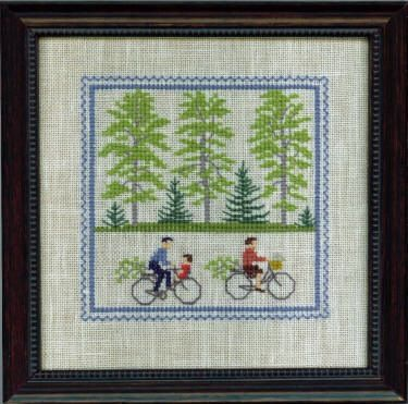 scandinavian stitches bicycle cross stitch  Danish Handcraft Guild -Gerda Bengston