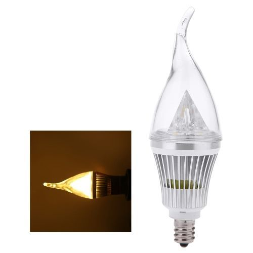 Ac110v 6w E12 Led Candle Bulb Light Silver Rawai Bubble Dimmable Chandelier Lamp Practical Decorative Energy Saving Home Lighting Fixture White Pinterest