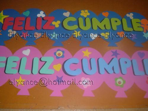 carteles de feliz cumplea os originales en cartulina