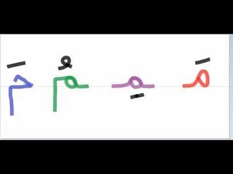 طريقة كتابة حرف الميم Youtube Learn Arabic Alphabet Arabic Alphabet Arabic Alphabet Letters