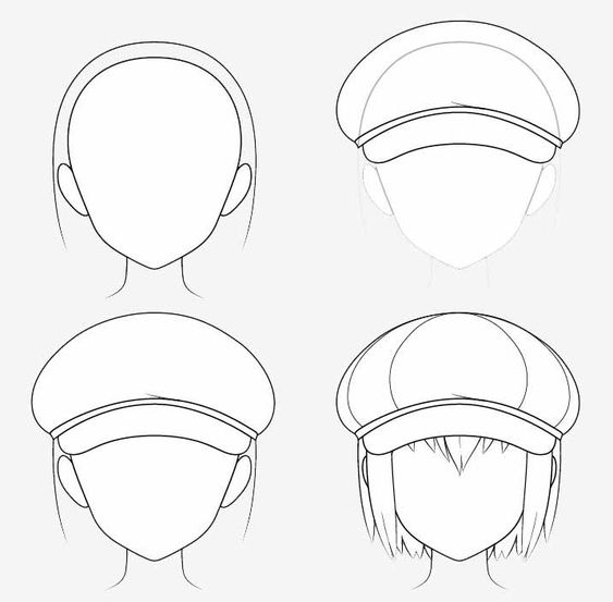 Từng bước vẽ nón Newsboy anime