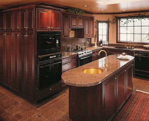 Mahogany wood cabinet for kitchen wood kitchen cabinets - Custom kitchen appliances ...