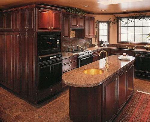 Mahogany Wood Cabinet For Kitchen Wood Kitchen Cabinets Pinterest Cherr