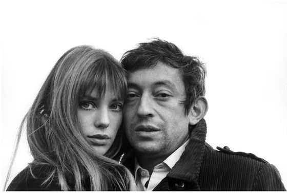 Jane Birkin  (for whom Hermes created their famous  handbag) + Serge Ginsburg