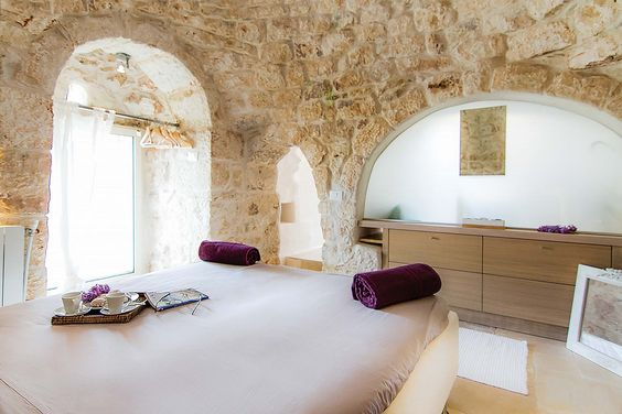 Villa Trulli Rella in Ostuni, Puglia Sleeps 4 people in 2 bedrooms This Trullo is restored to create a stylish and cosy home. It is the perfect base for exploring Puglia with Ostuni just a short drive away. Located in a quiet rural area and great for outdoor living, Villa Trullo Rella has a large private swimming pool, spacious lawn area and a covered outdoor cooking space equipped with a hob, sink, large preparation area and built in barbeque, perfect for alfresco dining!