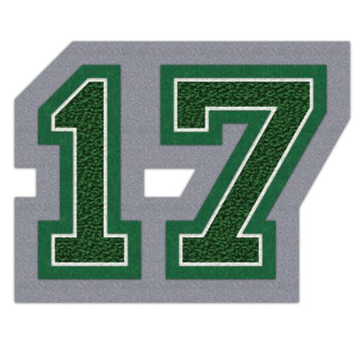2017 Two Digit Graduation Year Patch, Graduation Class Jacket Patch   #chenillepatch #chenilleyear #varsityjacket #varsityjackets #jacketpatch #graduationpatch #graduationclass #schoolaward #neffco #grads #2017