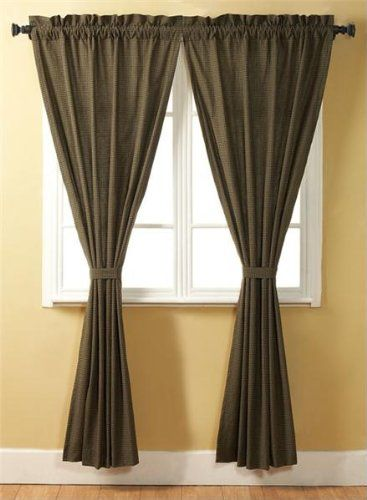Green Curtains amazon green curtains : Amazon.com - Tea Cabin Green Plaid Curtain Panel Set of 2 84