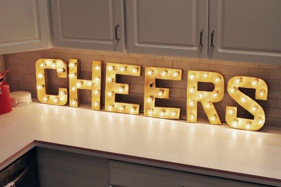 2015 Christmas marquee letters - Let's make some fun in your home! - Fashion Blog