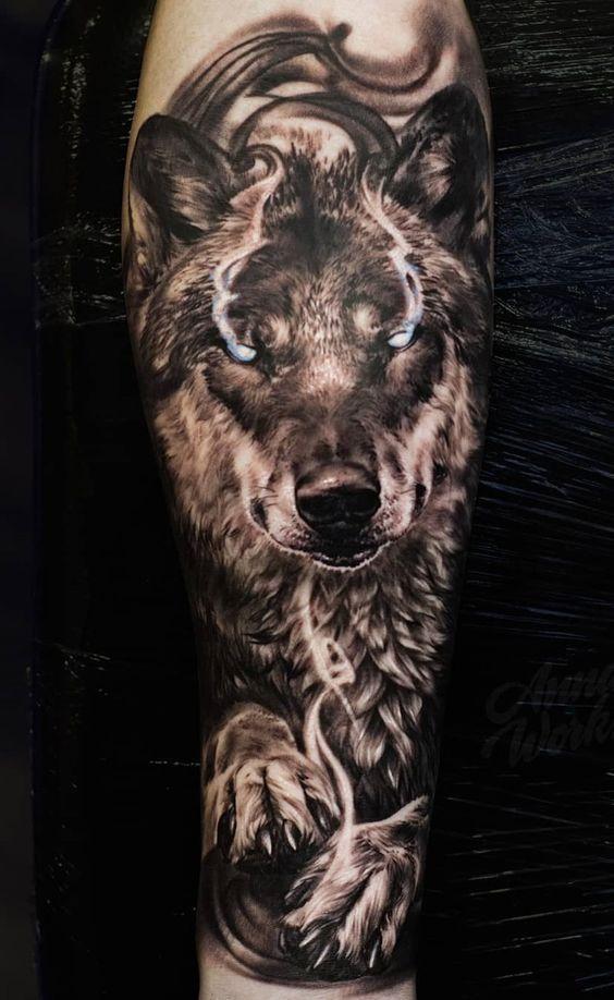 Wolf Howling At Moon Guys Realistic Forearm Sleeve Tattoo Ideas Bestmenstattoos Forearm Sleeve Tattoos Full Sleeve Tattoo Design Sleeve Tattoos