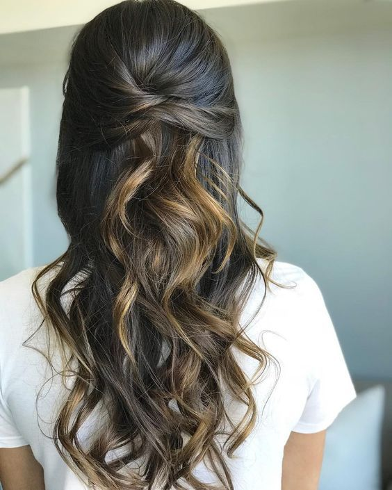 Braids Half Up Half Down Hairstyle Weddinghairhalfup Down Hairstyles For Long Hair Hair Styles Down Hairstyles