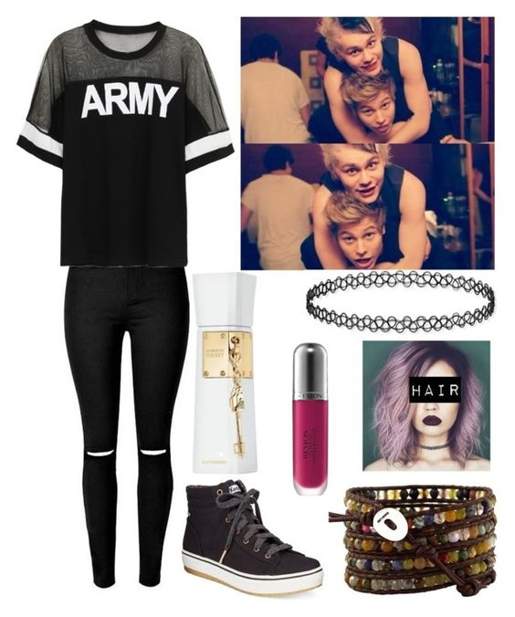"""piggyback race w/ the boys"" by hemmingsbxtch ❤ liked on Polyvore featuring Keds, Chan Luu, Revlon and Justin Bieber"
