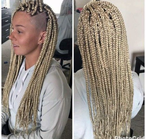 Remarkable Box Braids Examples For White Girls New Natural Hairstyles Box Braids Hairstyles Hair Styles Box Braids
