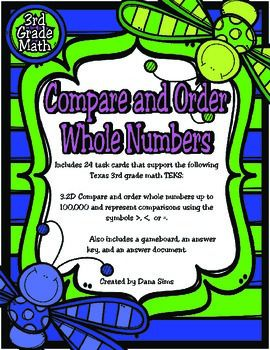 Comparing Whole Numbers Worksheets Third Grade - Math Worksheets ...