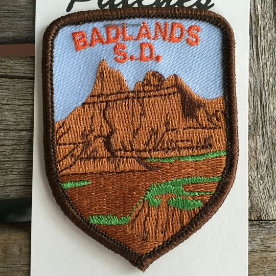 Badlands, South Dakota Vintage Souvenir Travel Patch from Rushmore Photo and Gifts by HeydayRoadTrip on Etsy