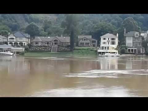 Charleston W V Historic Flooding Kanawha River Crest Youtube