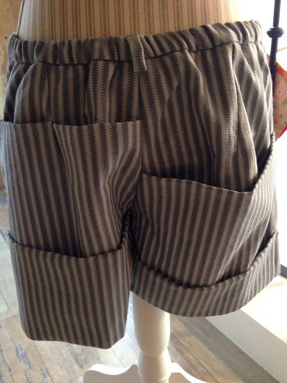 Creation laine de kimono Short poches mania