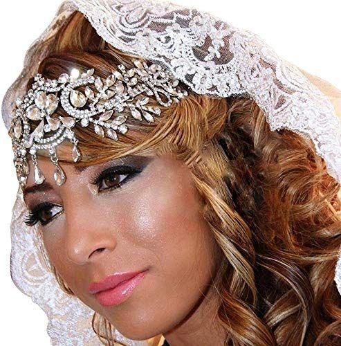 New Silver Crystal Big Crown Vogue Wedding Bridal Pageant Queen Headbands Tiara