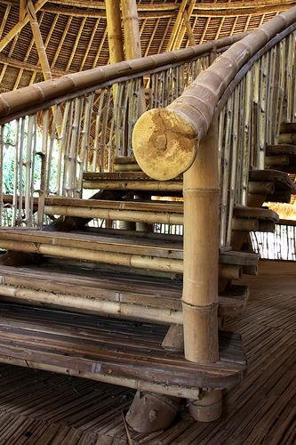 Heart of School: Bamboo stairs: