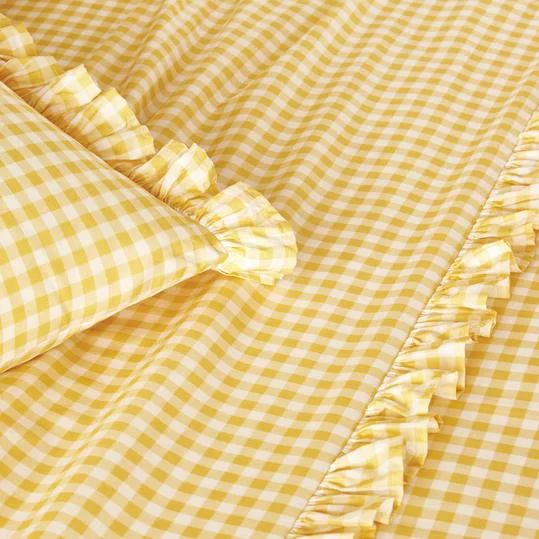 Everything We Love From The Pioneer Woman S New Fall Bedding Collection Fall Bedding Yellow Bedding Gingham Curtains