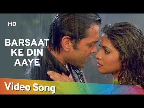 Barsaat Ke Din Aaye Barsaat 2005 Bobby Deol Priyanka Chopra Rain Song Filmigaane Youtube Lagu Bobby Priyanka Chopra