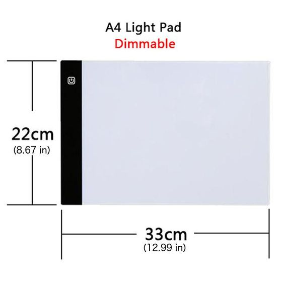 Upgraded Dimmable Light Pad For Diamond Painting Diamond Painting Soft Lighting Pad