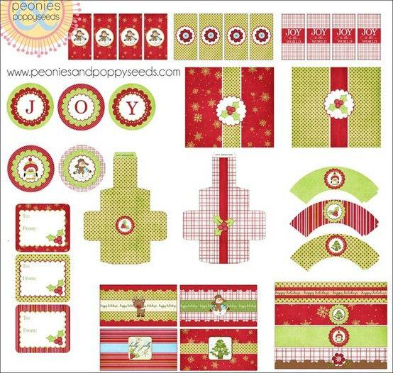 Pretty Christmas printables