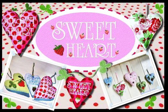 ♥ SWEETHEART  ♥   HERZEN-ITH  ♥  5 MOTIVE von regenbogenbuntes auf DaWanda.com