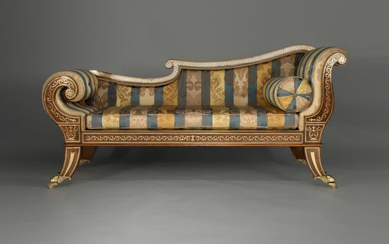 Chaise longue regency and english on pinterest for Chaise longue in english