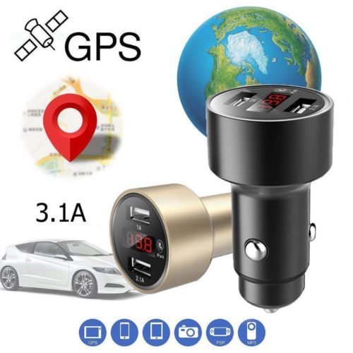 Newest Car GPS Tracker Locator Real Time Tracking Device USB Charger Voltmeter