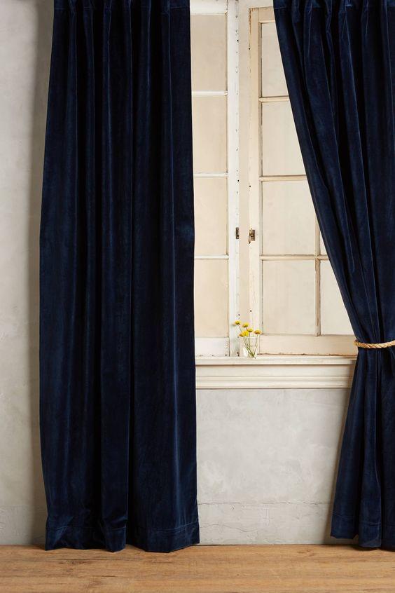 Anthropologie's New Arrivals: Velvet Curtains | Anthropologie ...