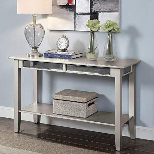 New Silver Sofa Table Glam Modern Contemporary Transitional
