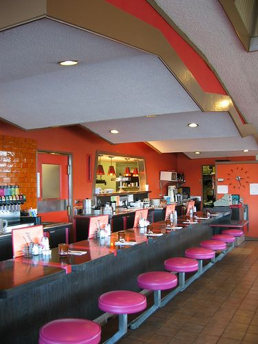 Interior of jimmy s restaurant san jose ca googie