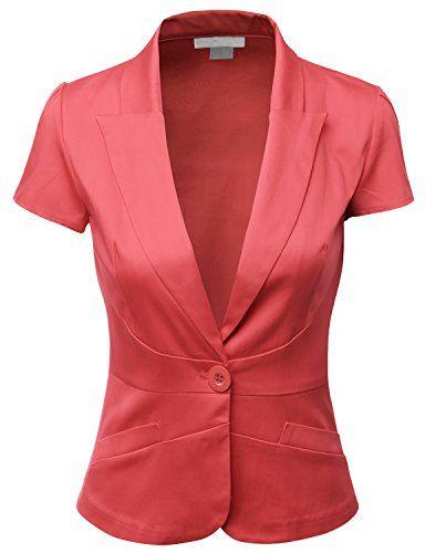 Women'S Short Sleeve Blazer - Trendy Clothes