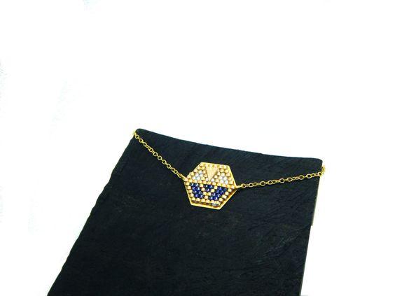 Bracelet style origami fin perles tissées : Bracelet par onlythewood