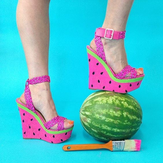 Wedges and Watermelon on Pinterest