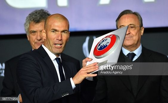 News Photo : Zinedine Zidane , Real Madrid's head coach, poses...